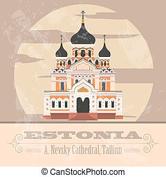 Estonia infographics, statistical data, sights. Vector...