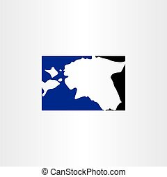 estonia logo map icon vector