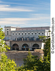 Estonia. Narva. Hydroelectric power station on the river Narva