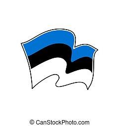 Estonia national flag. Vector illustration. Tallinn