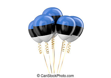 Estonia patriotic balloons, holyday concept