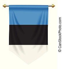 Estonia Pennant - Estonia flag or pennant isolated on white