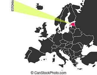 Estonia - political map of Europe