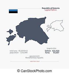 estonia - Republic of Estonia isolated maps and official...