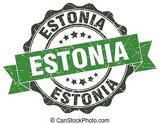 Estonia round ribbon seal