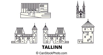 estonia, tallinn, kreska, podróż, sylwetka na tle nieba,...