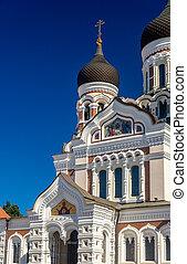 estonia, -, tallinn, santo, nevsky, cattedrale, alessandro