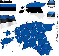 Estonia vector set.