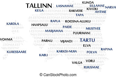 Estonia Word Cloud Map