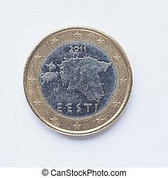 Estonian 1 Euro coin