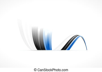 Estonian flag - Abstract Estonian waving flag isolated on ...