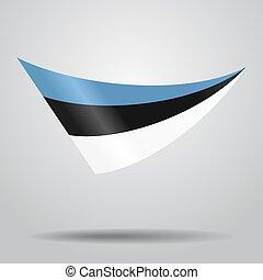 Estonian flag background. Vector illustration.