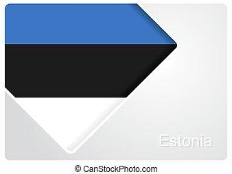 Estonian flag design background. Vector illustration. - ...