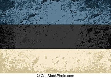 Estonian flag Grunge background. Vector illustration Eps 8.