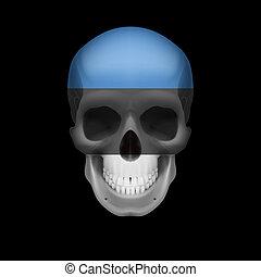 Estonian flag skull