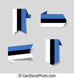 Estonian flag stickers and labels. Vector illustration. - ...