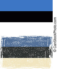 Estonian grunge flag. Vector illustration.
