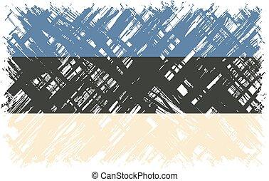 Estonian grunge flag. Vector illustration. Grunge effect can...