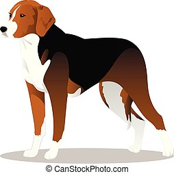Estonian hound cartoon dog