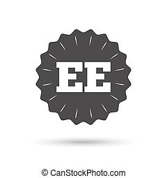 Estonian language sign icon. EE translation. - Vintage...