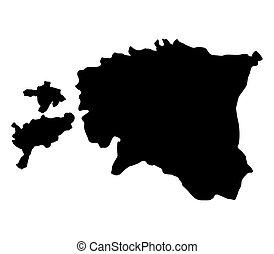 Estonian map