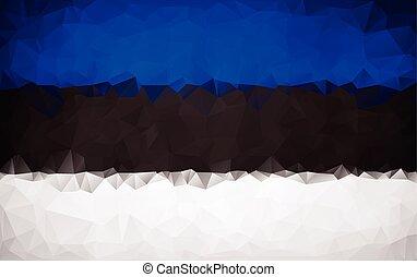 Estonian polygon flag texture background