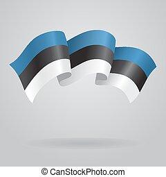 Estonian waving Flag. Vector illustration
