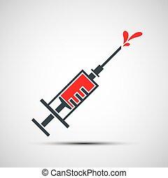 estoque, illustration., vaccine.