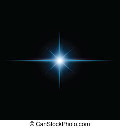 estouro, luz, vetorial, estrela, viga