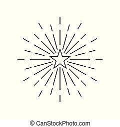 estouro, vetorial, estrela, ícone