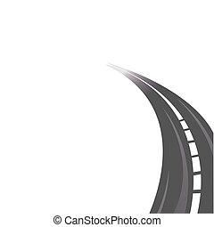 estrada, asphalted
