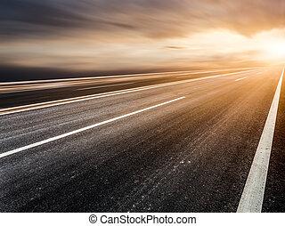 estrada, céu, fundo