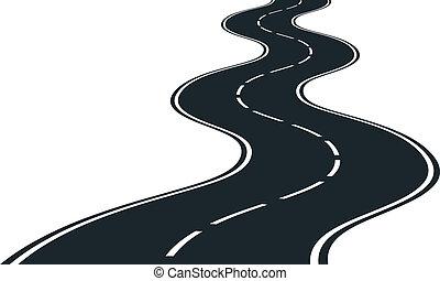 estrada, curvas