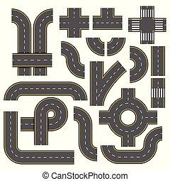 estrada, elements., cobrança, de, connectable, rodovia,...
