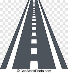 estrada, experiência., rodovia, estrada, transparente, asfalto