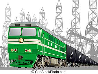 estrada ferro, aguilhão, petróleo, transporte