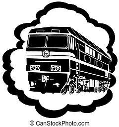 estrada ferro, locomotiva