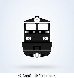 estrada ferro, vetorial, icon., apartamento, símbolo.,...