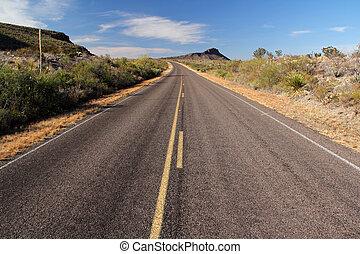 estrada, panorâmico
