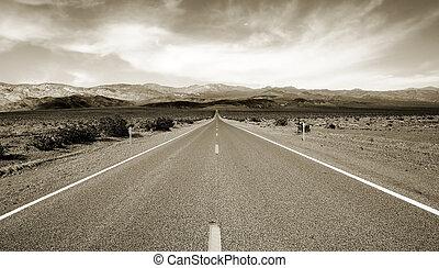 estrada, para, eternidade