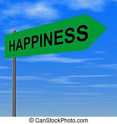 estrada, para, felicidade