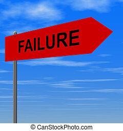 estrada, para, fracasso