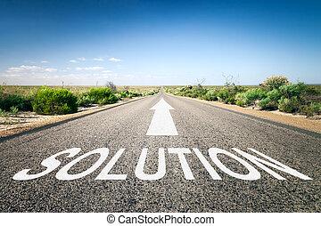 estrada, para, horizonte