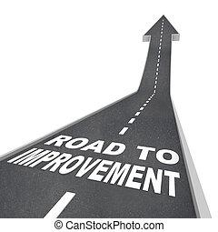 estrada, para, melhoria, -, palavras, ligado, rua