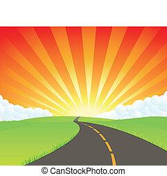 estrada, para, paraisos
