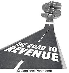 estrada, para, rendimento, fazendo dinheiro, renda,...