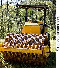 estrada, pavimentar, equipamento, em, floresta