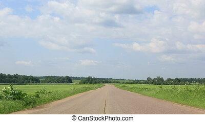 estrada rural, e, clouds.