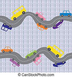 estrada, seamless, fundo