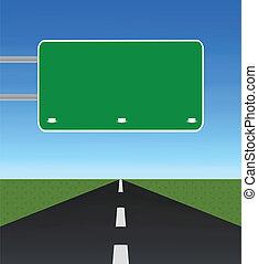 estrada-sinal, vazio, estrada, em branco